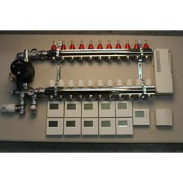 Gulvvarmestyring komplet system 11 kreds digital