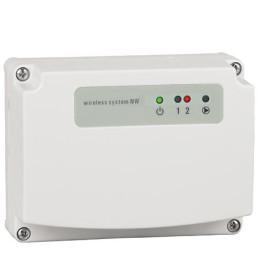Gulvvarme controller 2 kanal - m. Pumperelé - trådløs