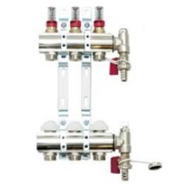 Gulvvarme Manifold m Flowmeter - 3 kretser