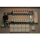 Komplett gulvvarmesystem - 10 kretser - analog