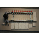 Komplett gulvvarmesystem - 11 kretser - analog