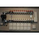 Komplett gulvvarmesystem - 12 kretser - analog