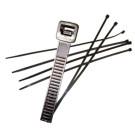 Strips / buntebånd - 4,8x290mm - svart - 100 stykker per boks