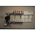 Komplett gulvvarmesystem - 5 kretser - analog