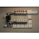 Komplett gulvvarmesystem - 6 kretser - analog