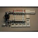 Gulvvarmestyring komplet system 6 kredse digital