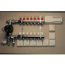 Komplett gulvvarmesystem - 7 kretser - analog