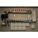 Komplett gulvvarmesystem - 9 kretser - analog