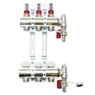 Gulvvarme Manifold m Flowmeter - 5 kretser